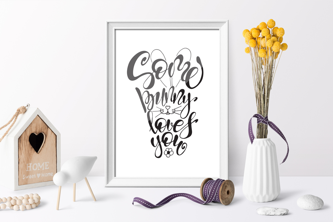 Easter quotes. Spring lettering set example image 6