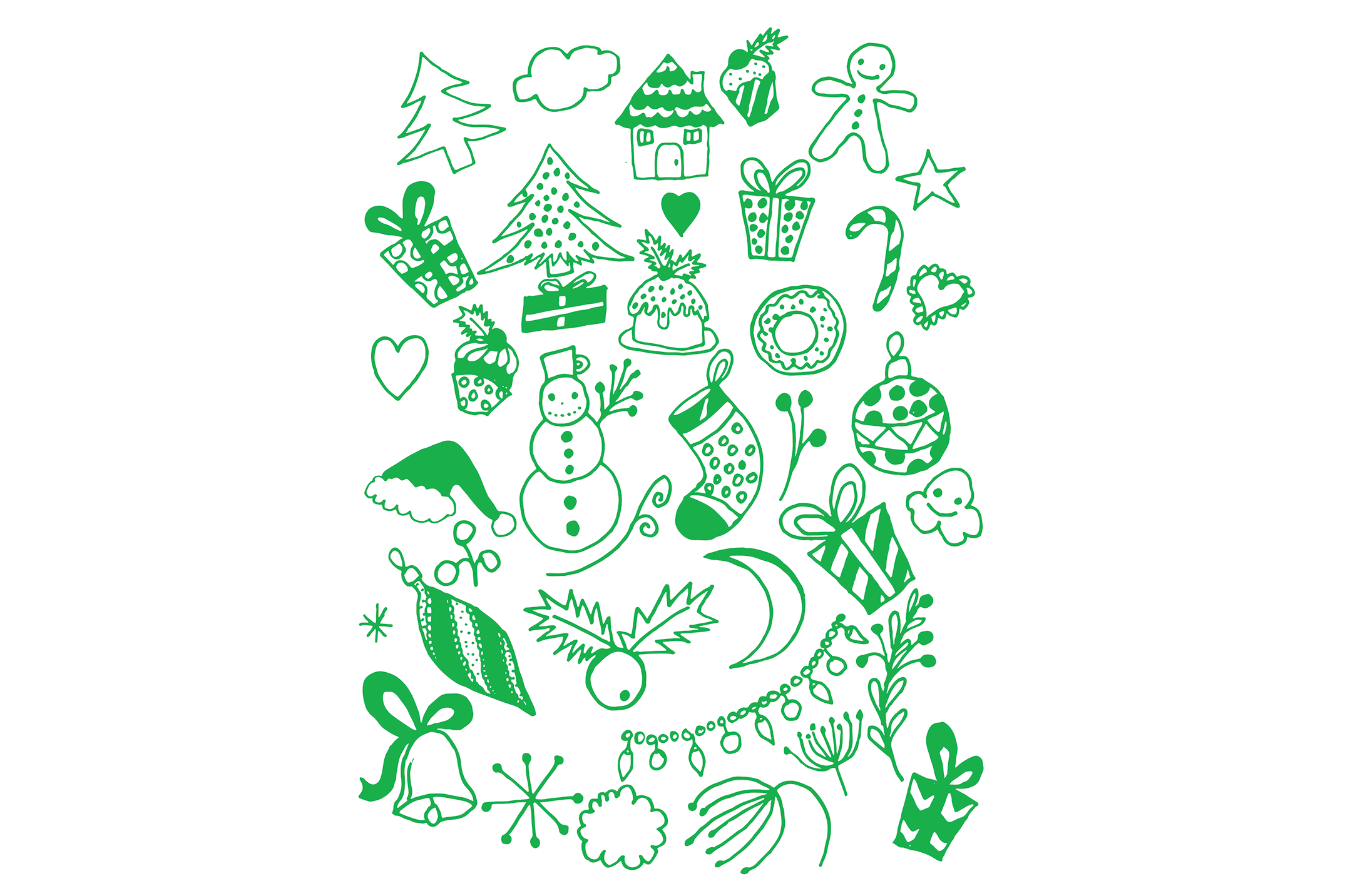 Hand Drawn Christmas Doodles example image 5