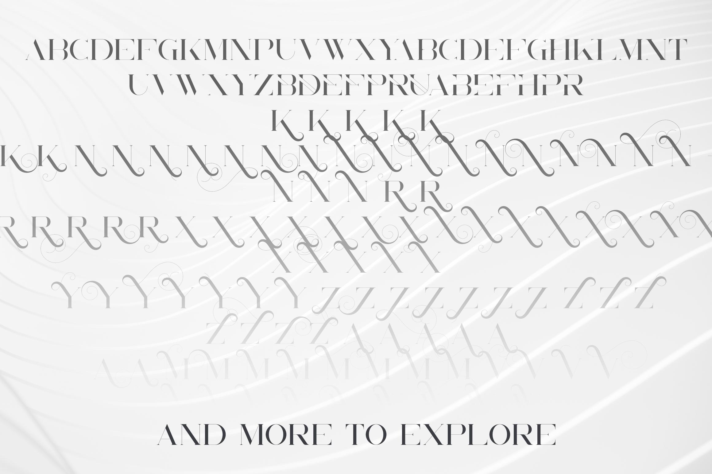 Unreal serif font - Latin & Cyrillic example image 12