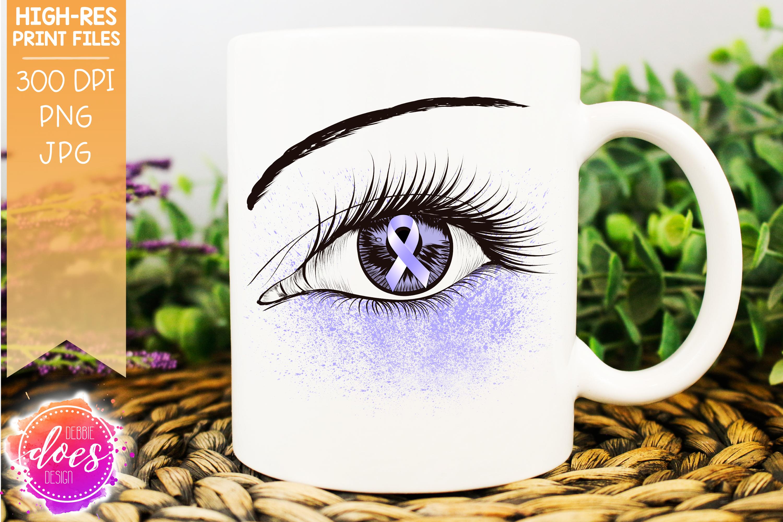 Periwinkle Awareness Ribbon Eye - Printable Design example image 1