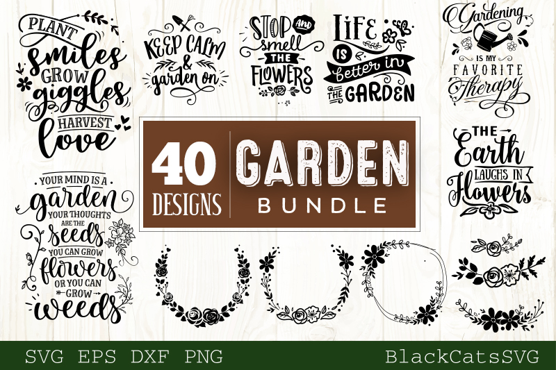 Garden SVG bundle 40 designs Gardening SVG bundle example image 3