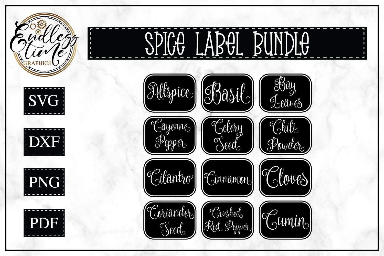 Spice Jar Label SVG Cut File Bundle example image 1