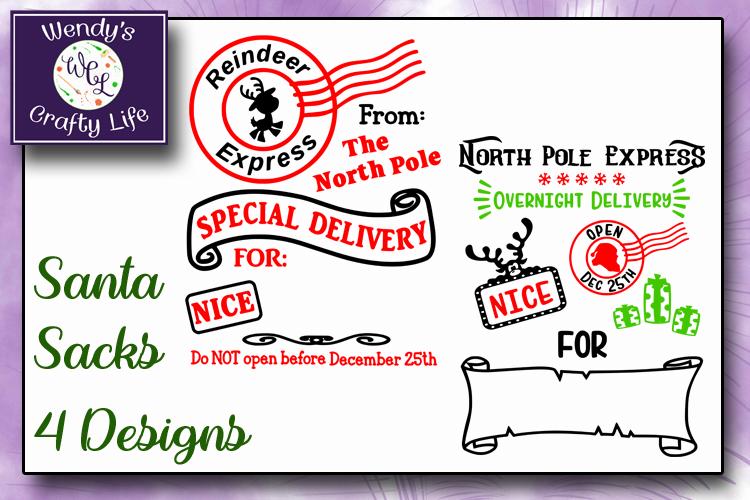 Santa Sack digital bundle of 4 designs - SVG, PNG & PDF example image 2