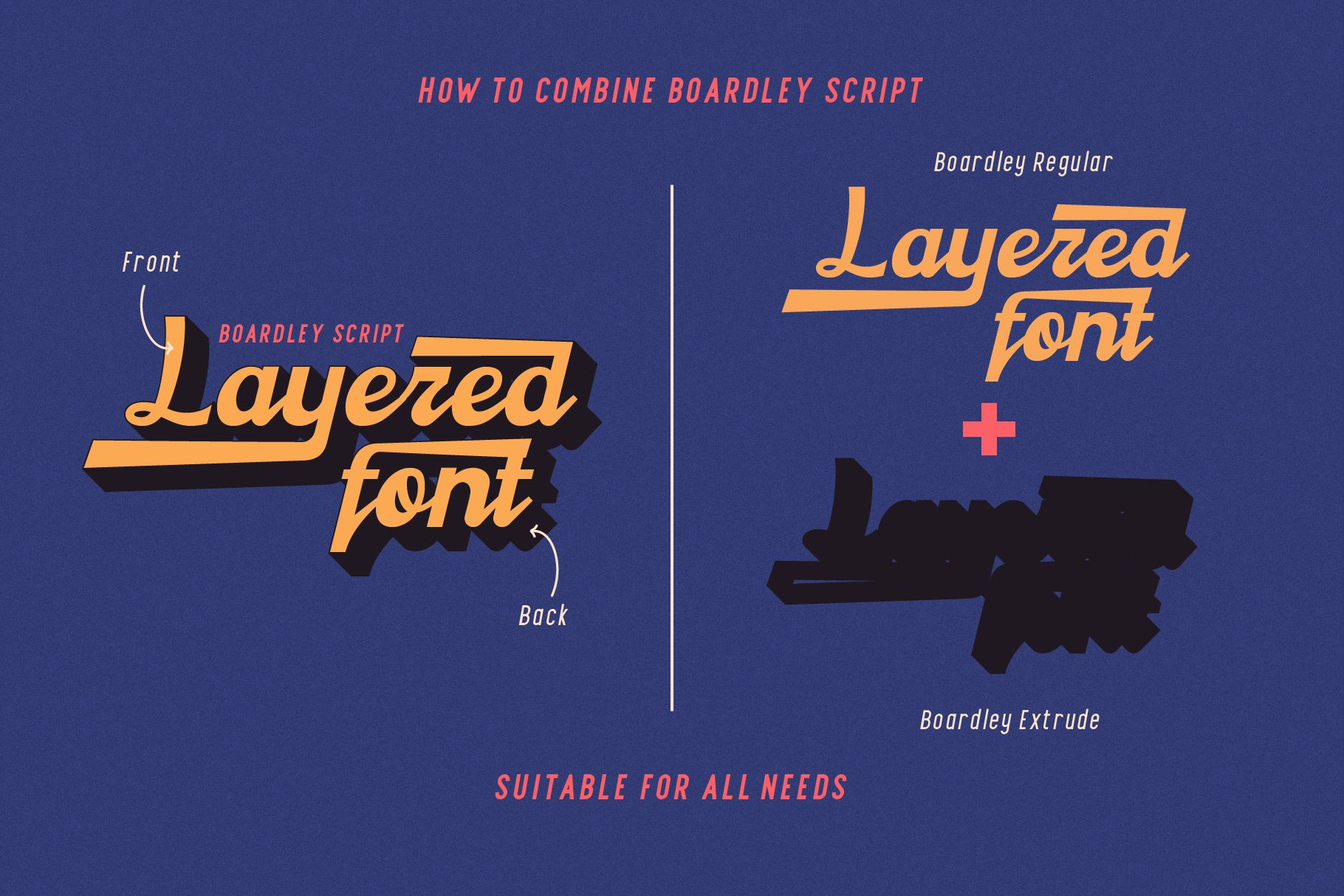Boardley Script - Layered Font example image 9