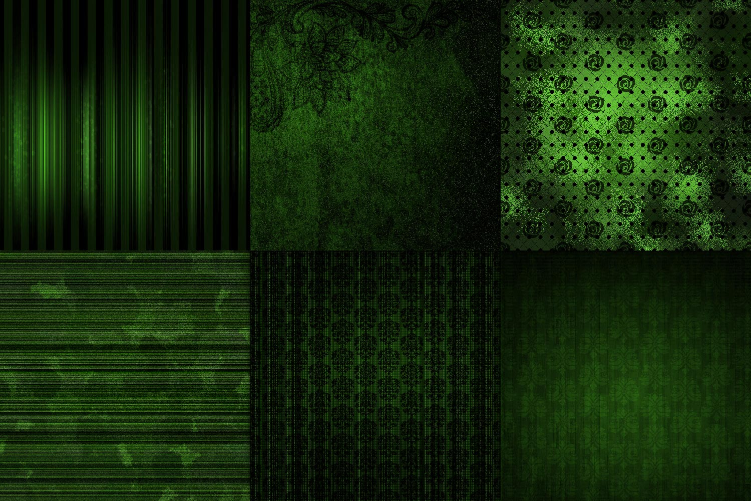 Emerald Grunge Digital Paper example image 2