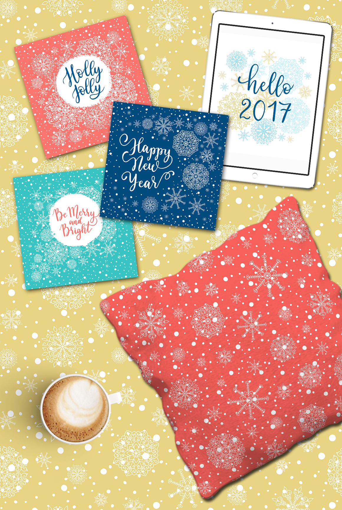 Christmas cards  overlays patterns example image 2