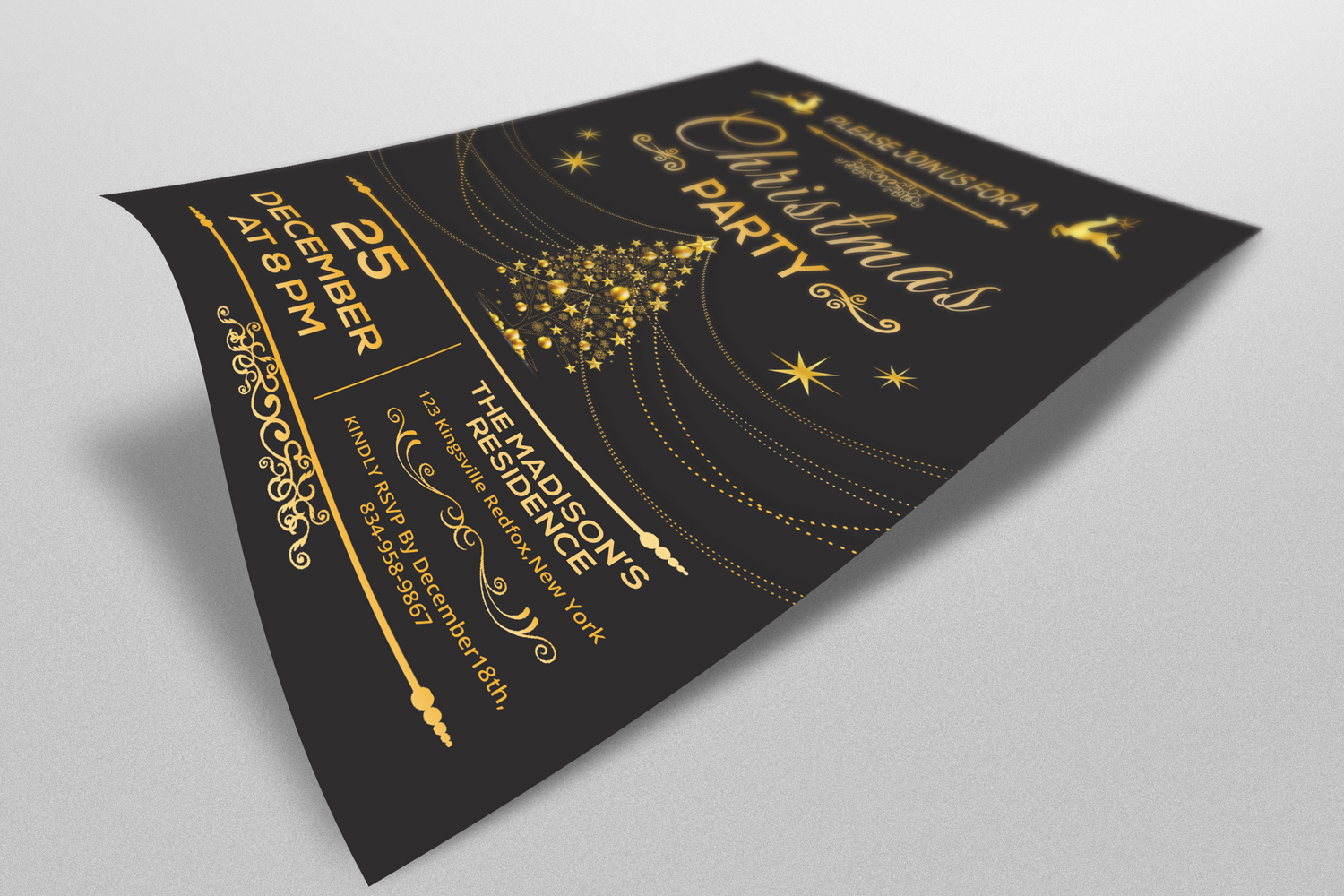 Christmas Party Invitation Flyer example image 3