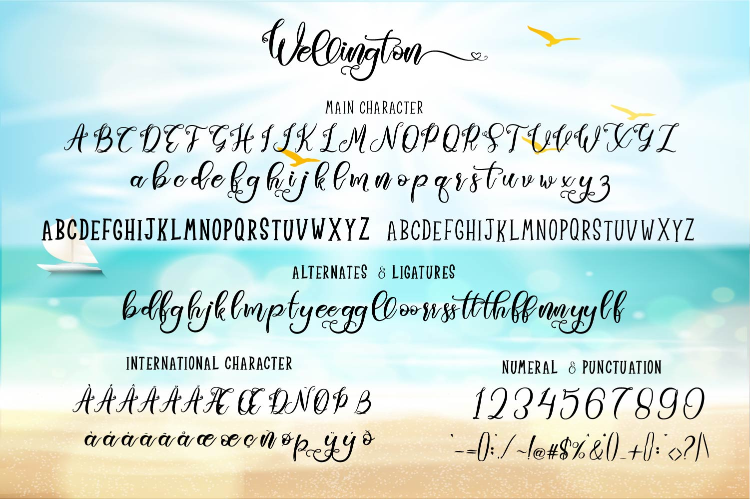 Wellington Font Duo  Extras example image 5