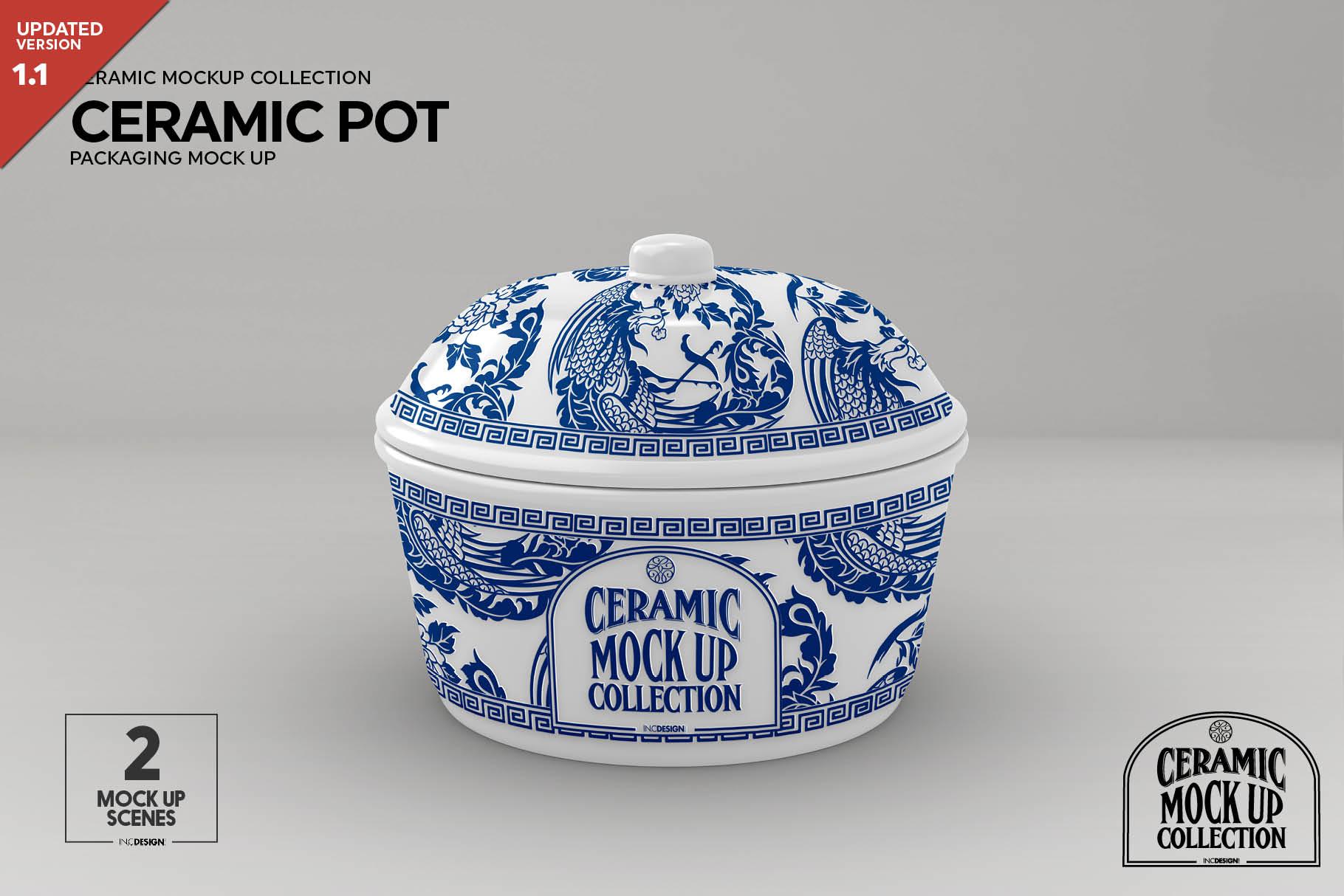 Ceramic Pot Packaging Mock Up example image 3
