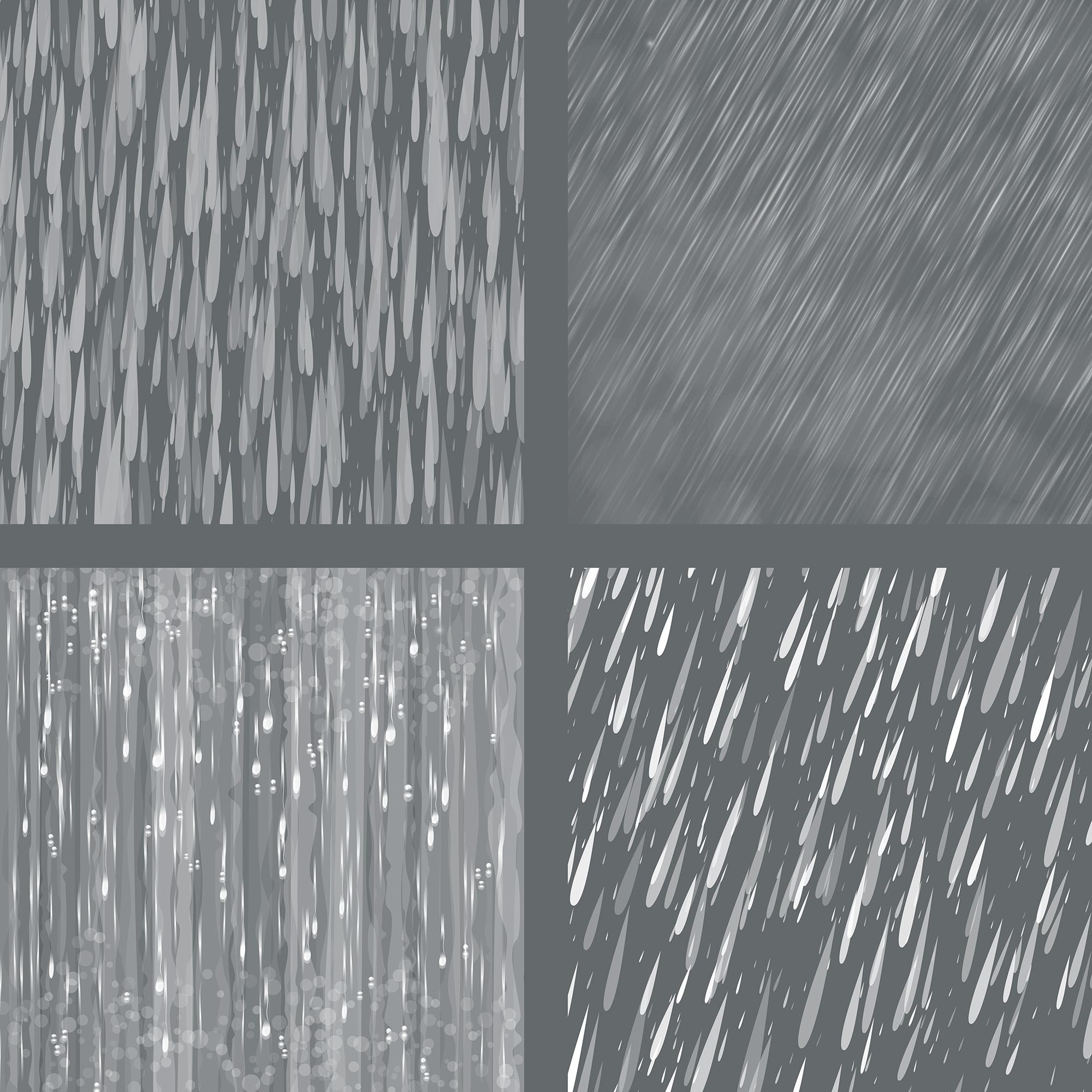 Rain Overlays Clipart, Falling Rain, Photoshop Overlays example image 6