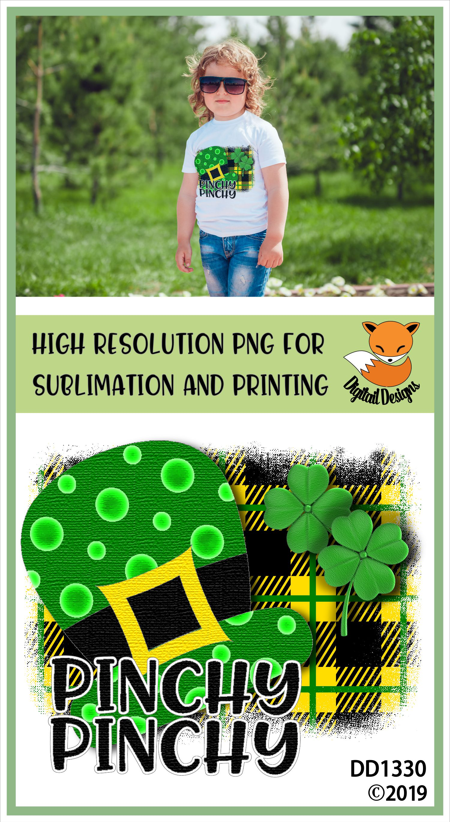St Patrick's Day Irish Funny Pinchy Sublimation Printable example image 2