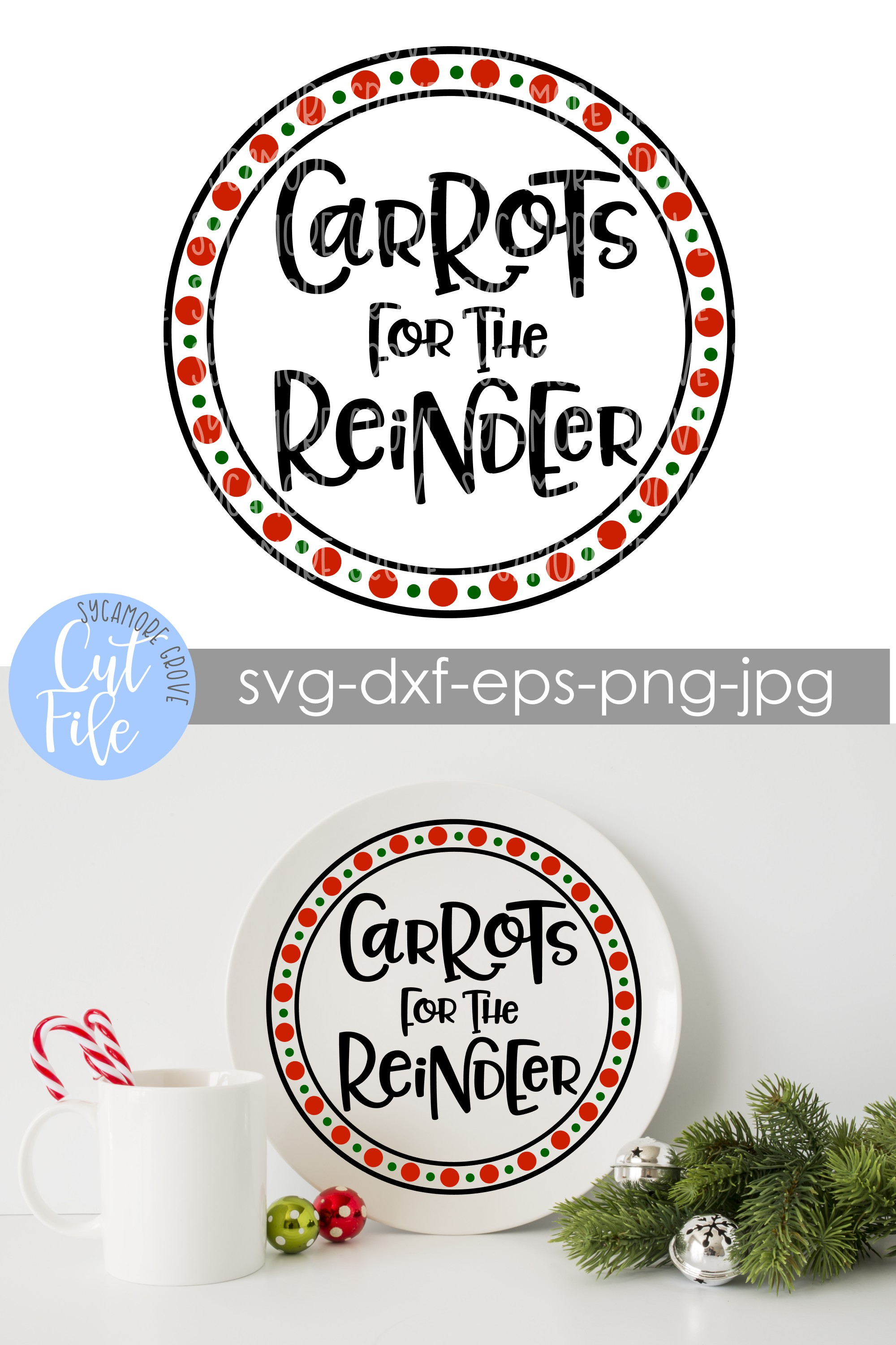 Carrots for the Reindeer | Christmas SVG example image 4