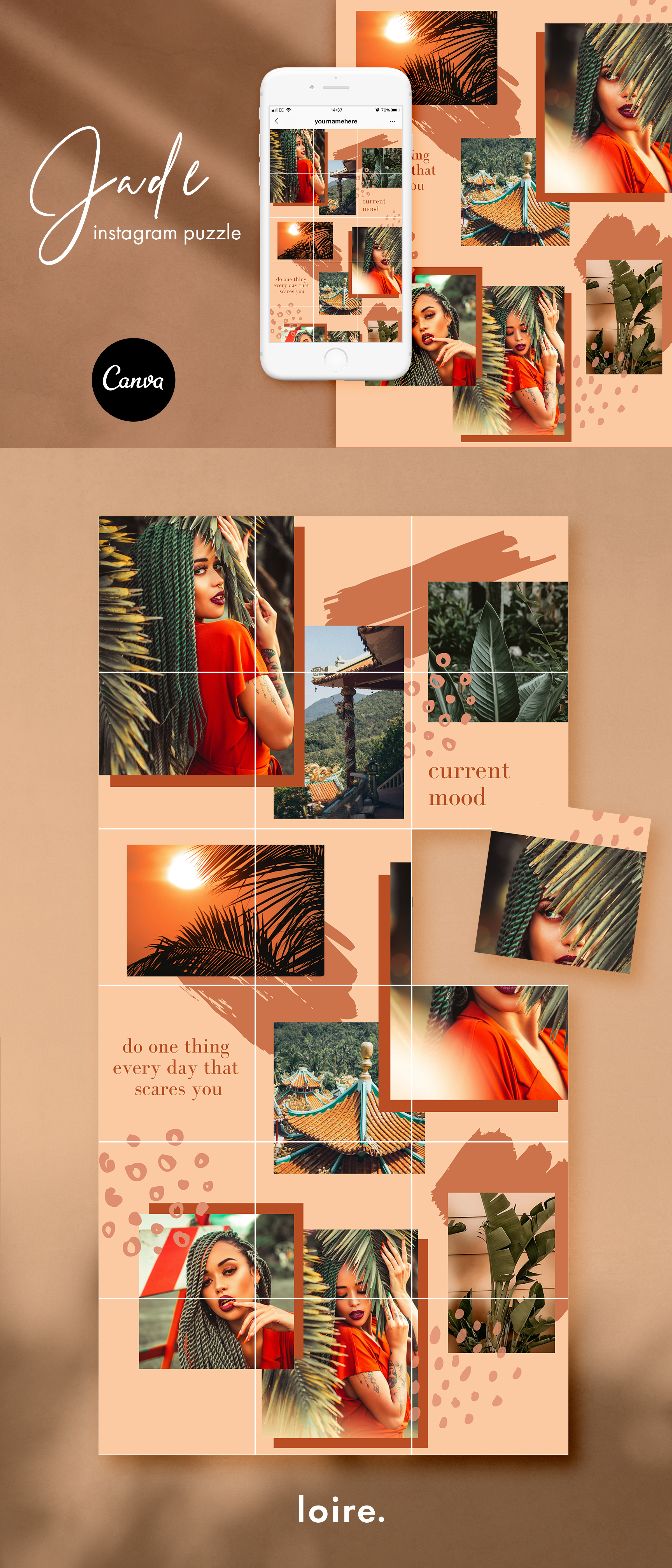 Instagram split grid template for Canva example image 7