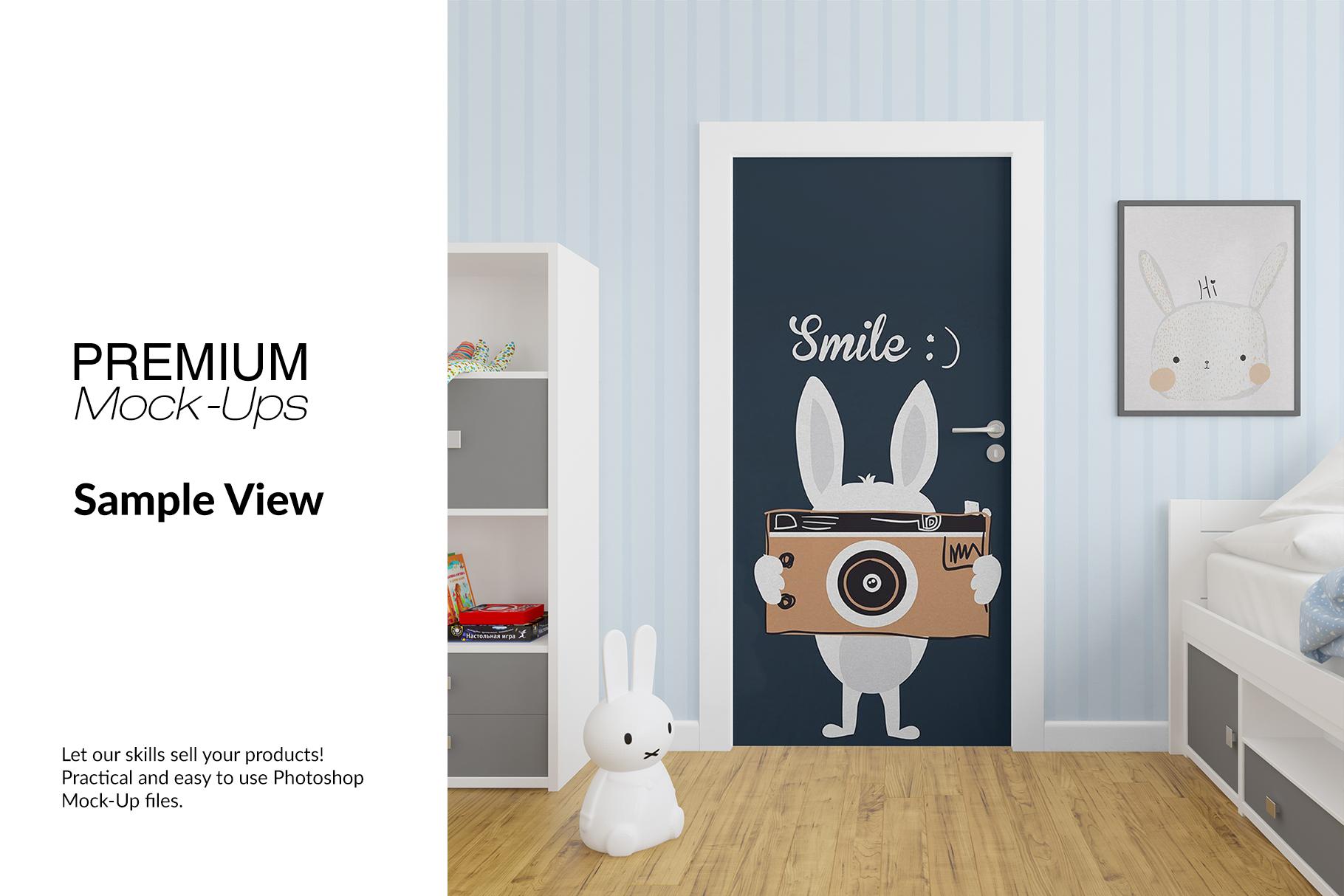Door Murals in Nursery Set example image 9