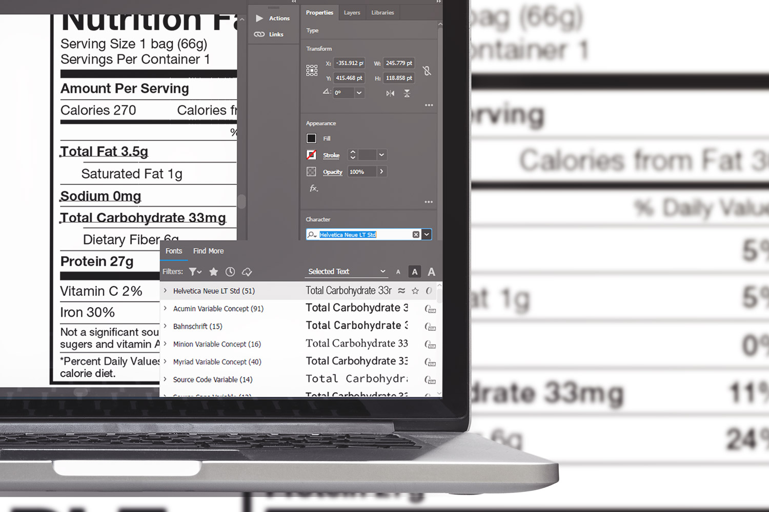 Nutrition Facts Template example image 2