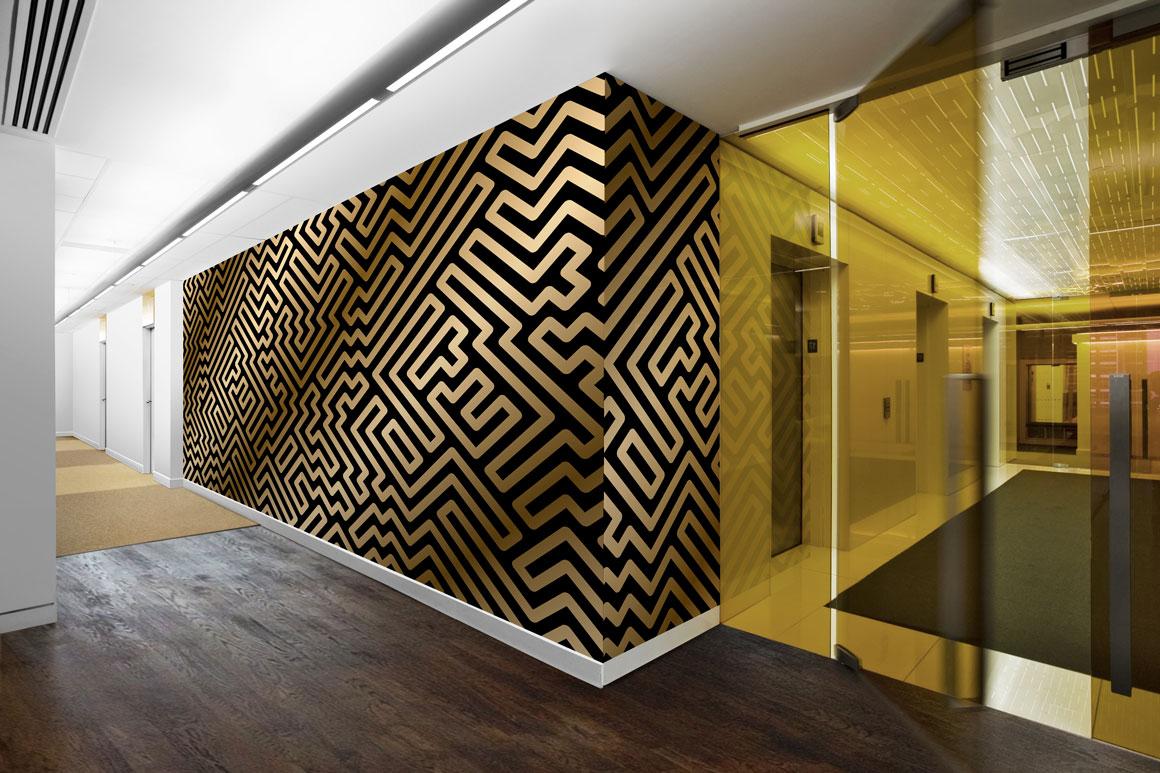 Luxury striped geometric patterns example image 3