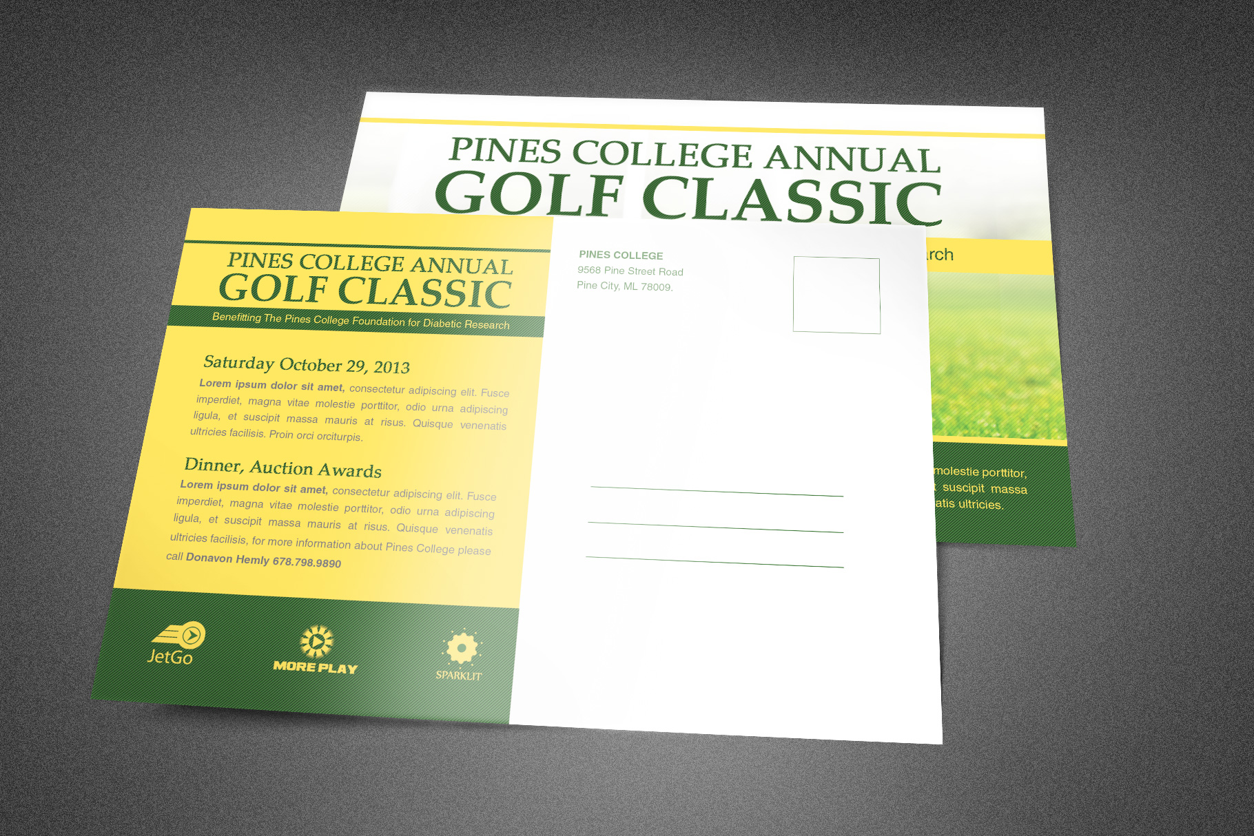 Golf Classic Postcard Template example image 2