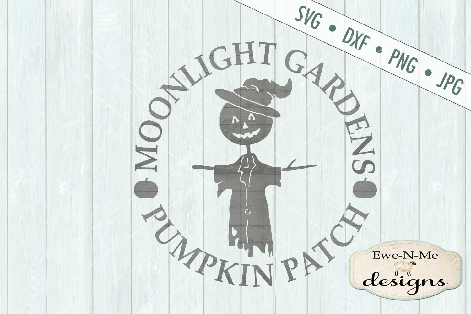 Moonlight Gardens Pumpkin Patch SVG DXF Files example image 2