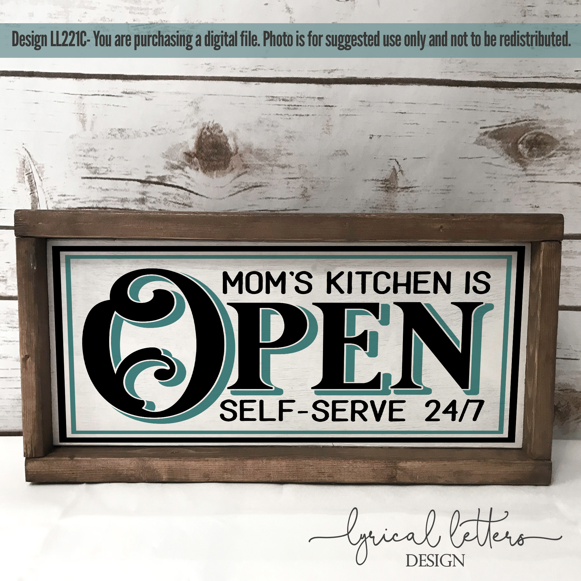 Moms Kitchen Is Open Farmhouse SVG Cut File LL221C example image 2