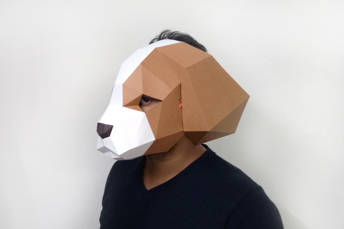 DIY Cocker Spaniel Mask - 3d papercraft example image 6