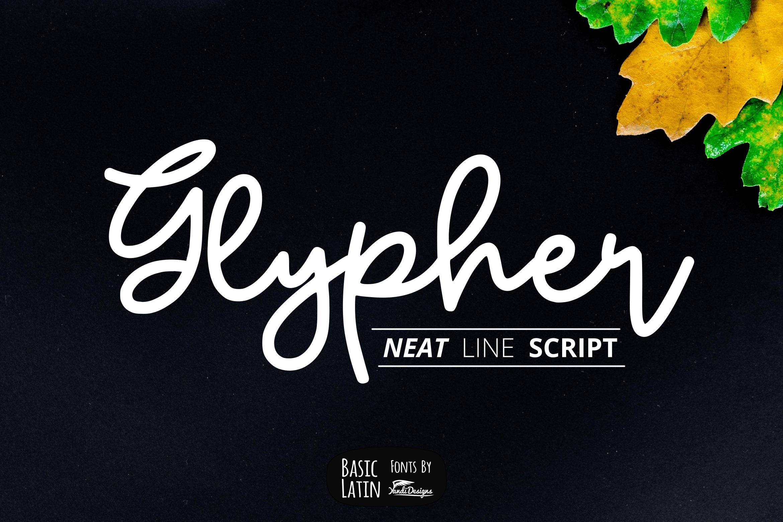 Glypher Script example image 1