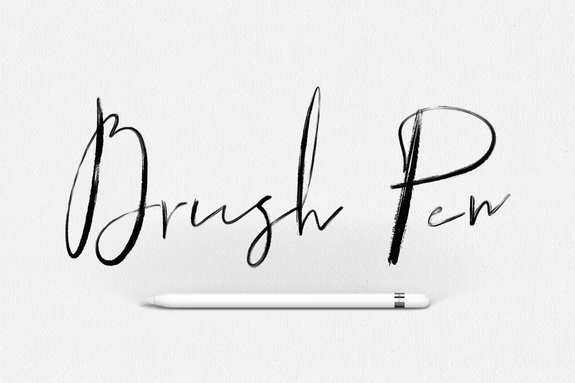 Procreate Lettering Brushes + Bonus example image 7