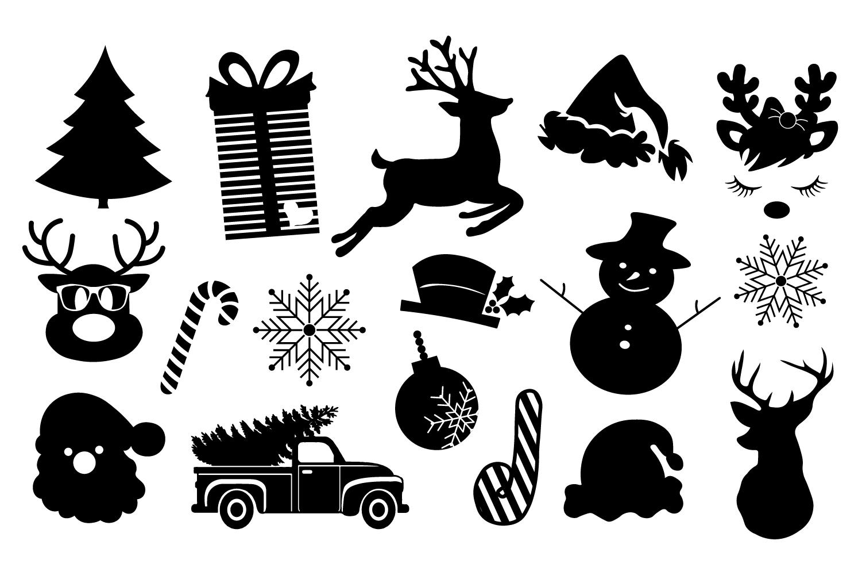 Christmas Silhouette Bundle example image 2