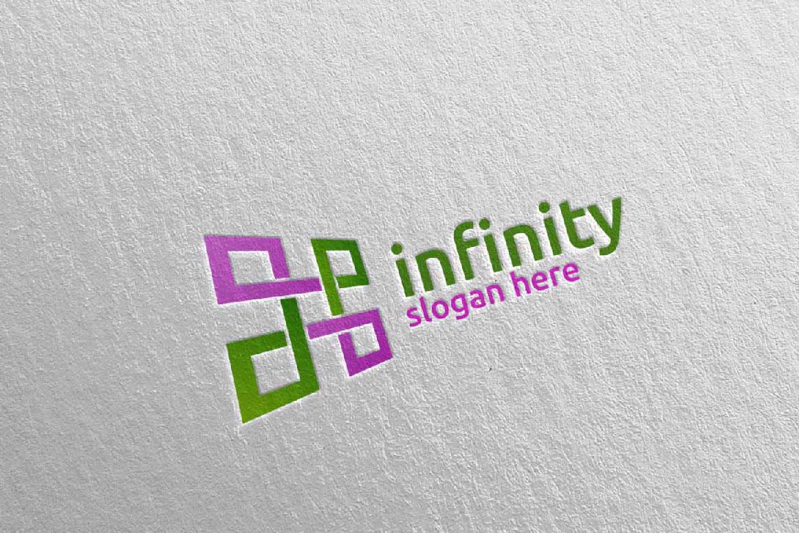 Infinity loop logo Design 25 example image 2