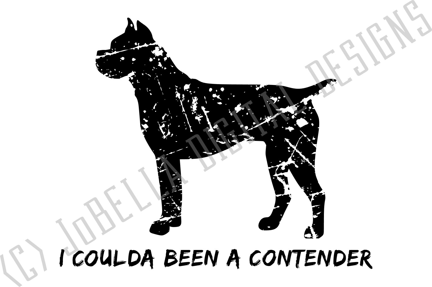 Funny Distressed Boxer SVG and Printable Dog Lover Design example image 3