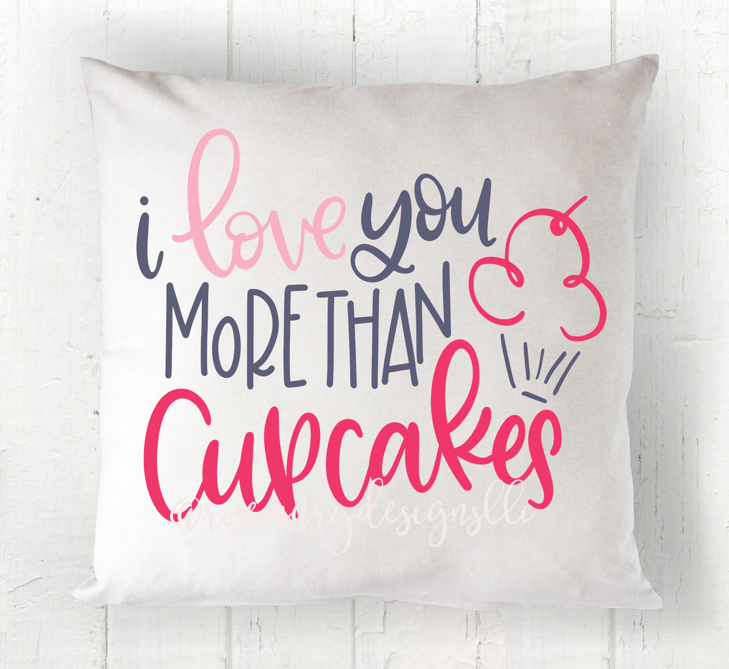 I love you more than Cupcakes - Hand Lettered SVG example image 1