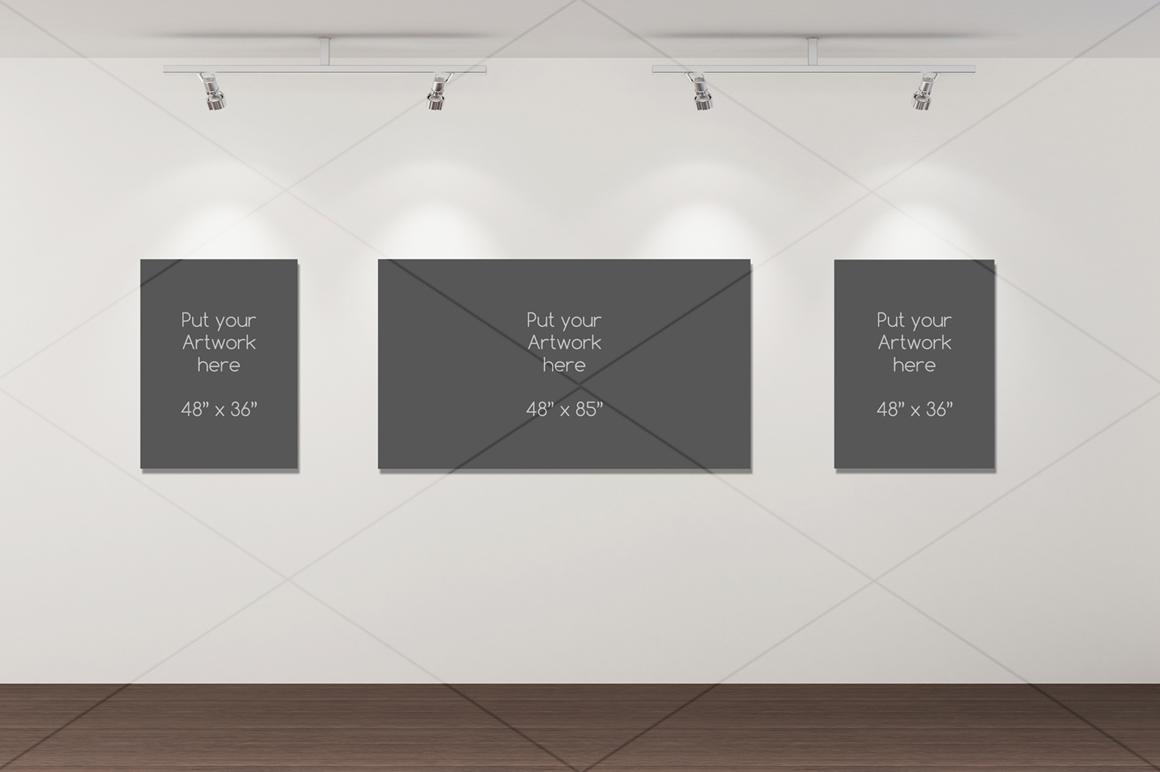Art Gallery Artwork/Poster mockup example image 3