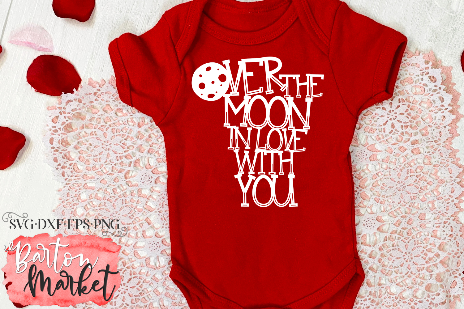 Over the Moon SVG DXF EPS PNG example image 4