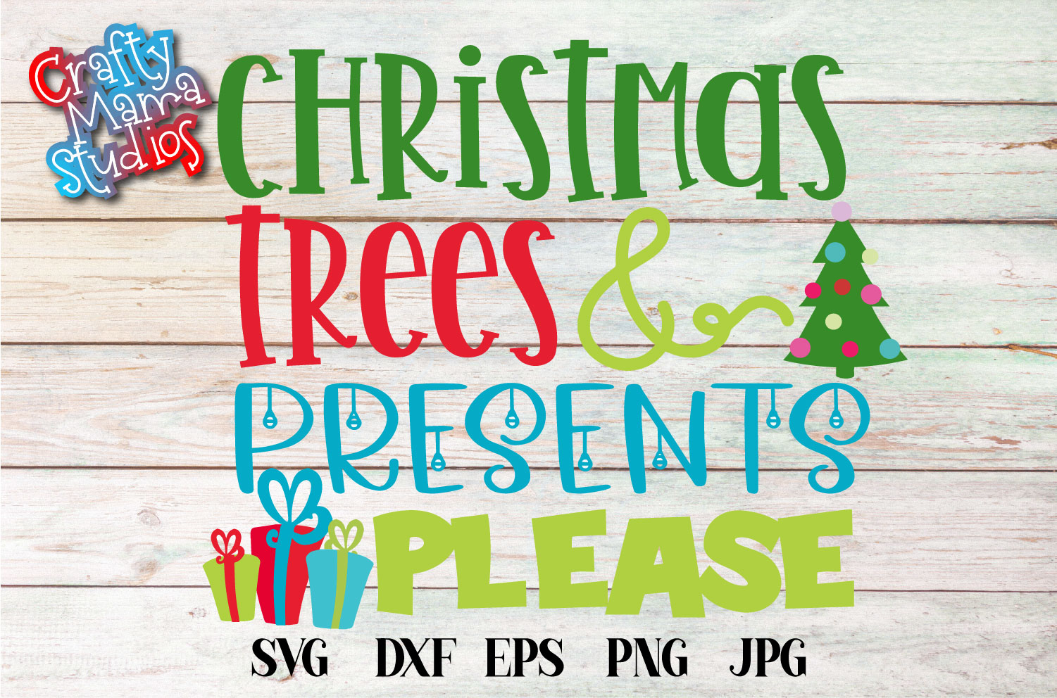 Christmas Trees And Presents Please SVG, Christmas SVG example image 2
