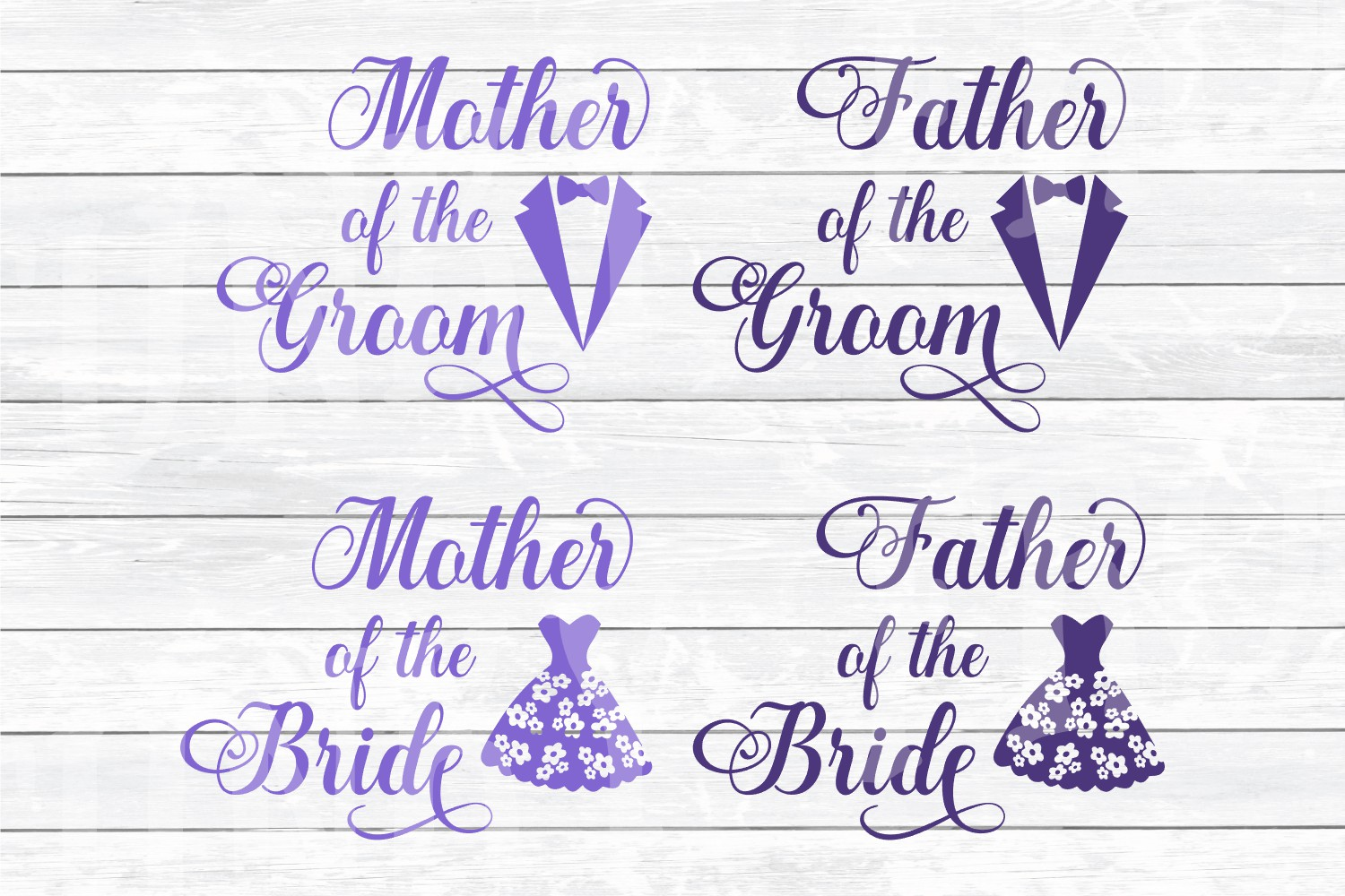 Wedding Party Design Bundle - SVG Cut Files for Crafters example image 3