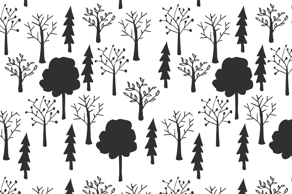 Trees pattern collection example image 9