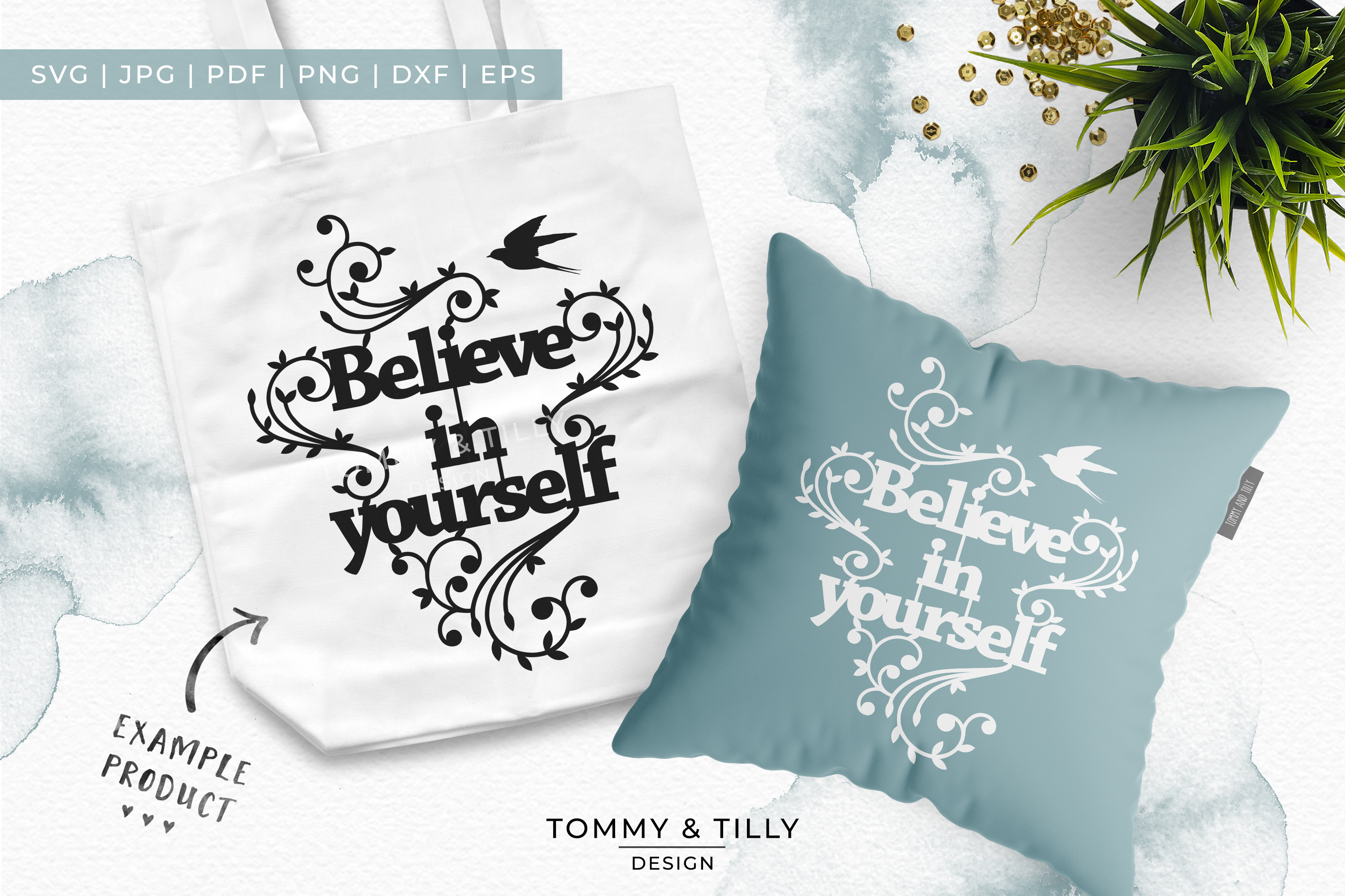 Believe in yourself - Papercut SVG EPS DXF PNG PDF example image 2