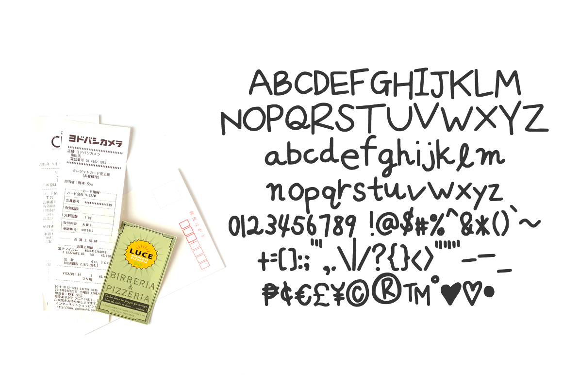 Zakka - a handwritten font inspired by Japan example image 2