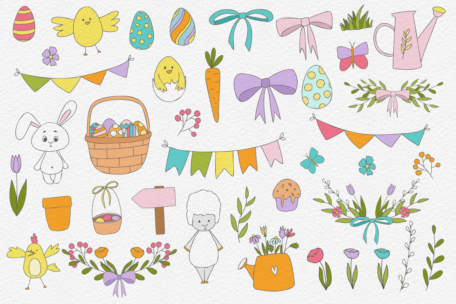40 Easter Clipart Elements example image 2