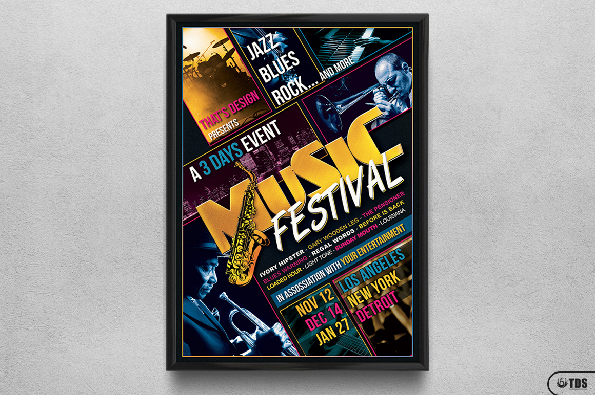 Music Festival Flyer Template V3 example image 6
