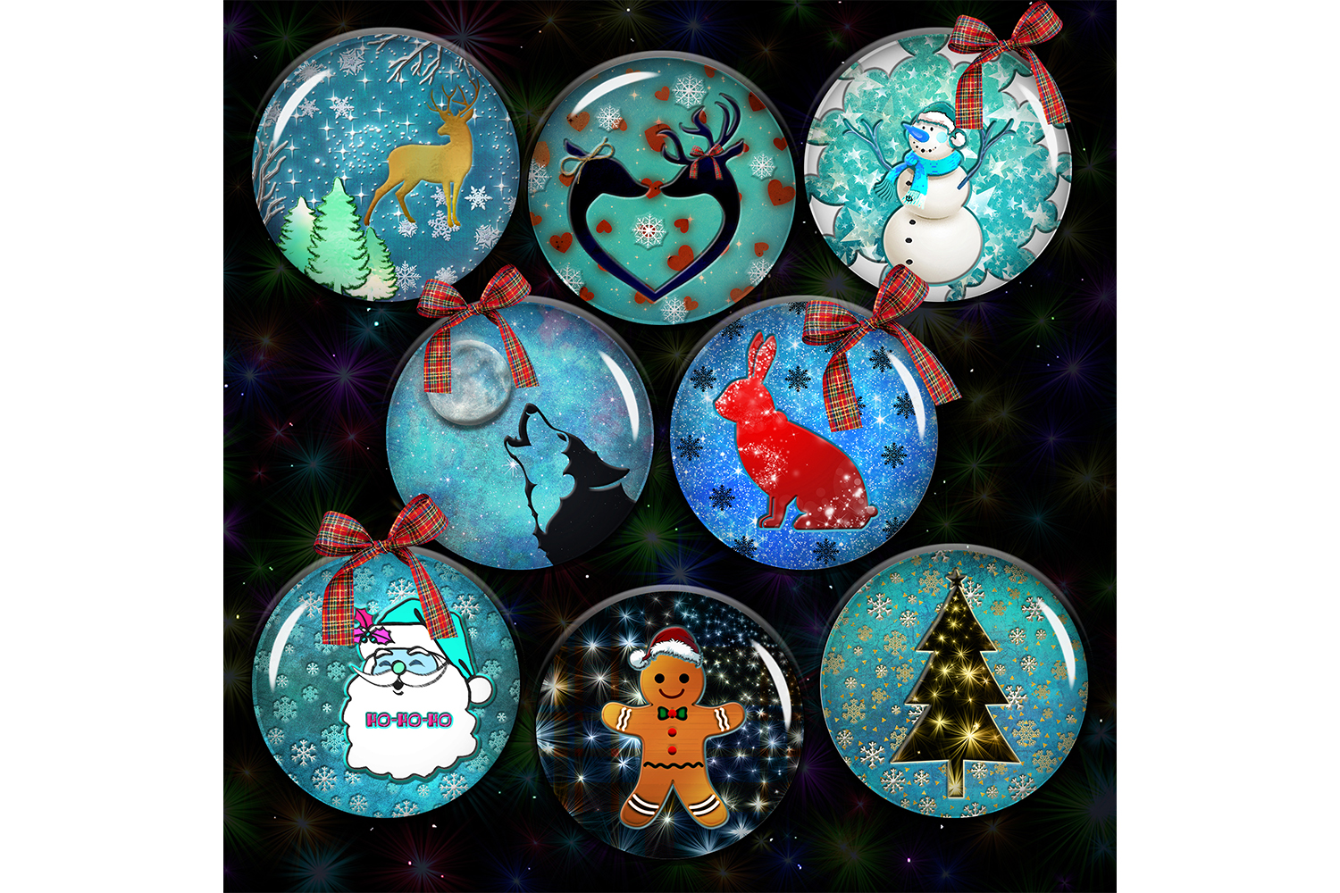 Christmas Magic,Digital Christmas Collage Sheet,Digital example image 1