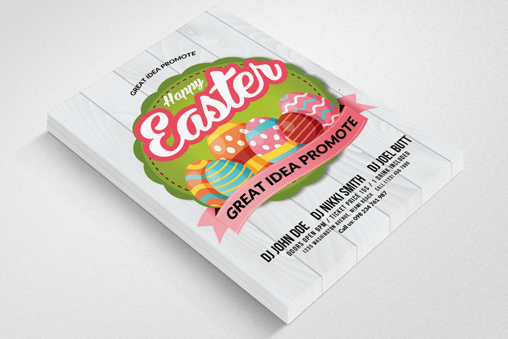Spring and Easter Flyer Template example image 3