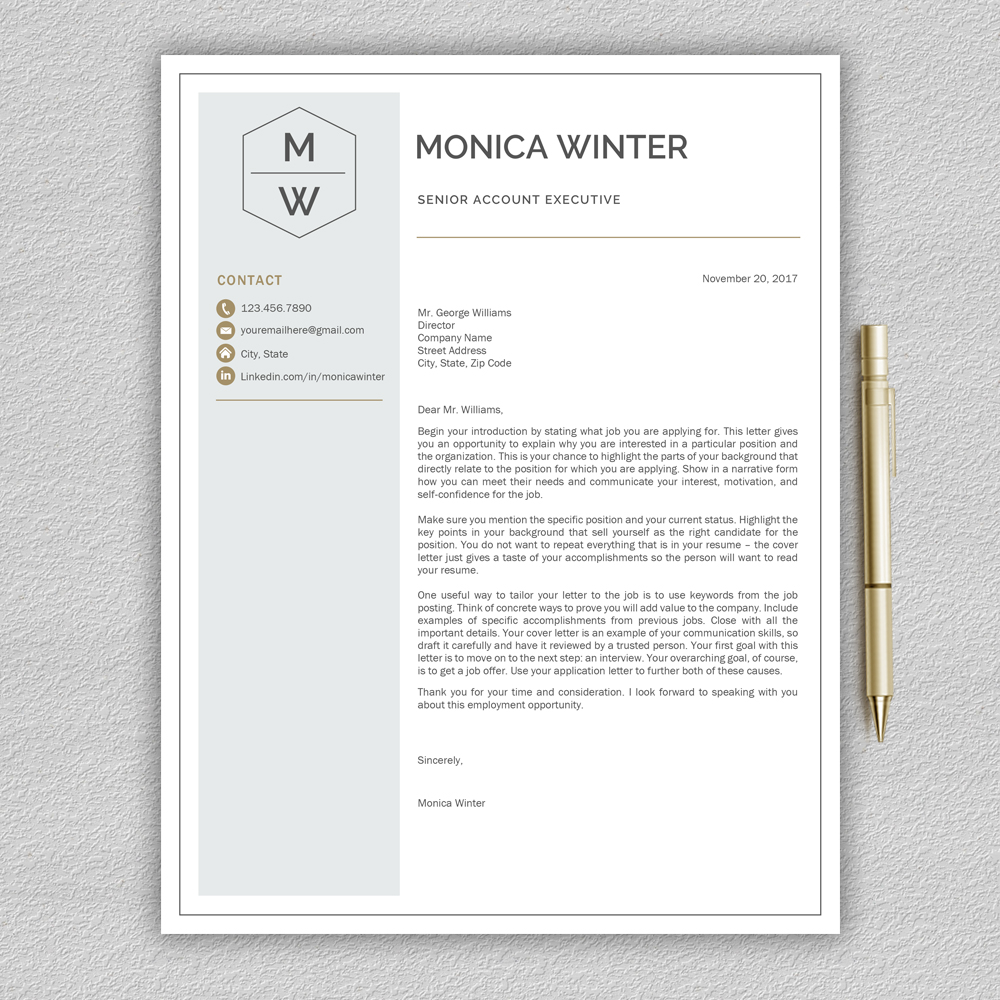 Resume Template / CV Template / Cover Letter example image 5