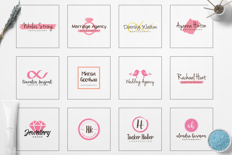 GIRLPOWER Feminine Branding Logo Pack example image 3