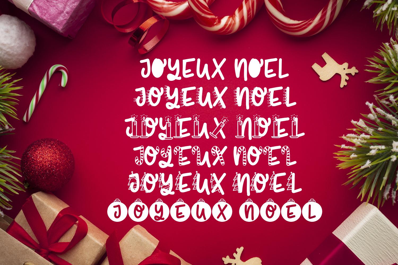 Joyeux Noel Font - Christmas Doodle Font In 6 Designs example image 6