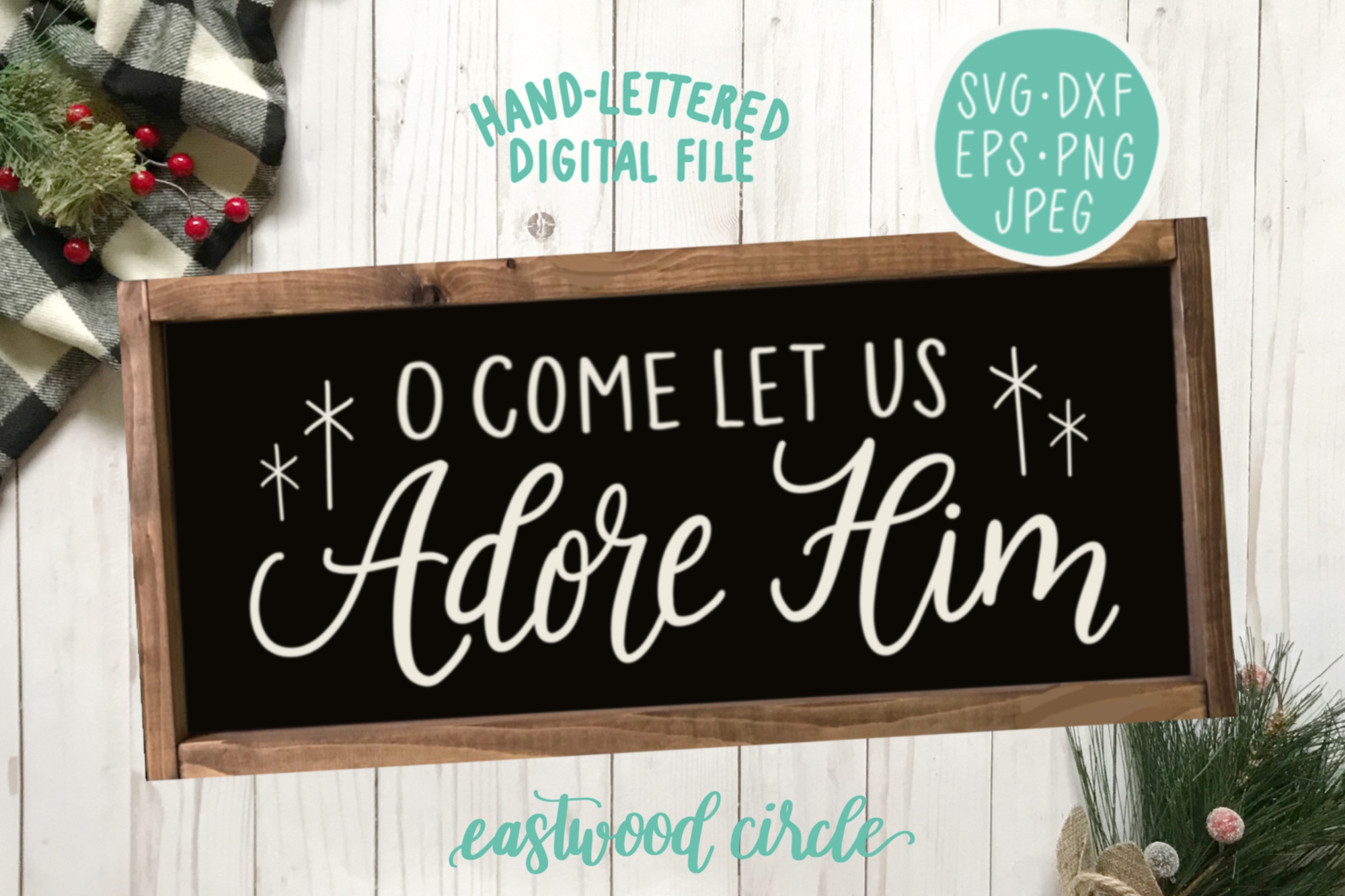Christmas SVG Bundle - Hand Lettered Cut Files for Signs example image 6