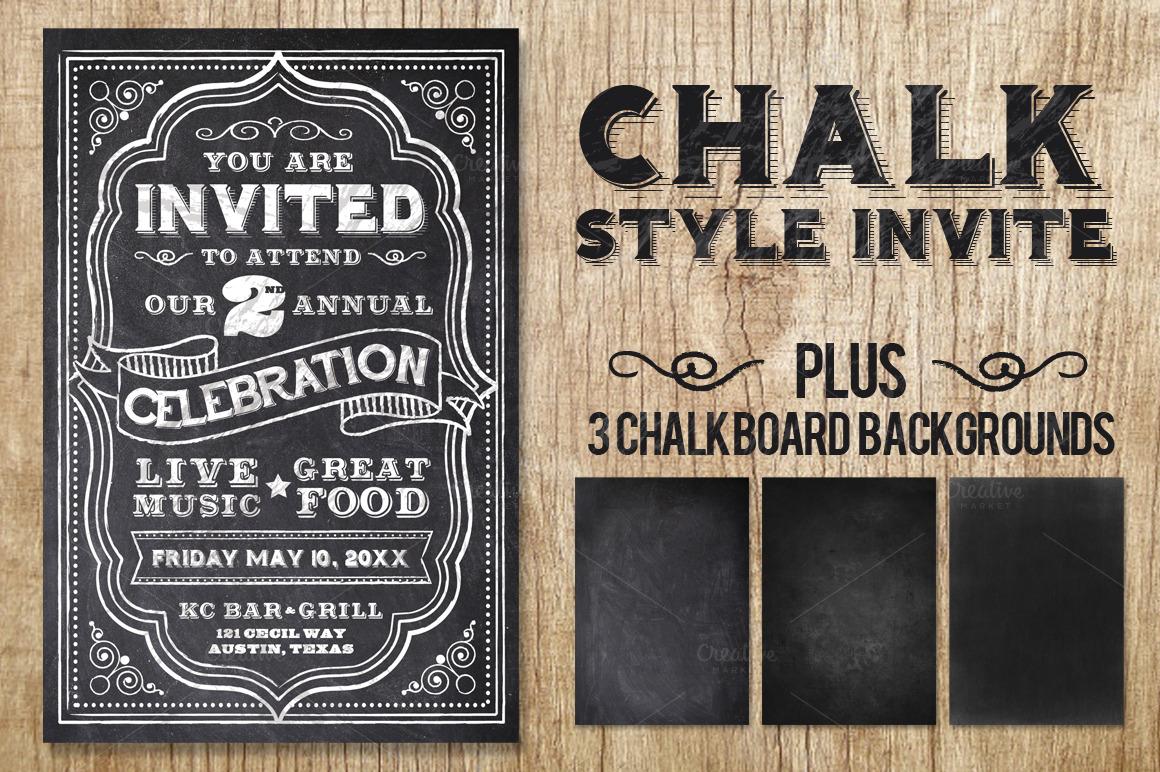 Chalk Flyer Bundle Pack example image 3