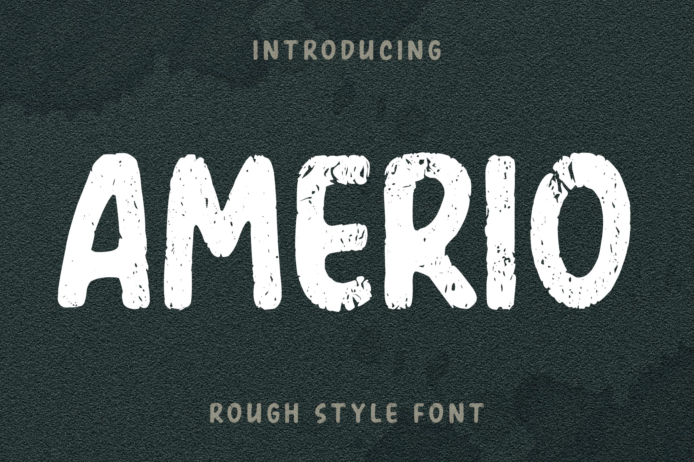 AMERIO Rough Style Font example image 1