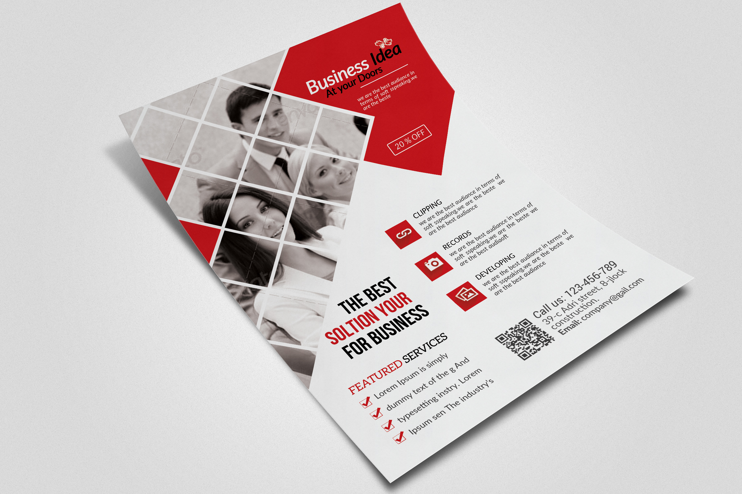 Business Dealing flyer  example image 3