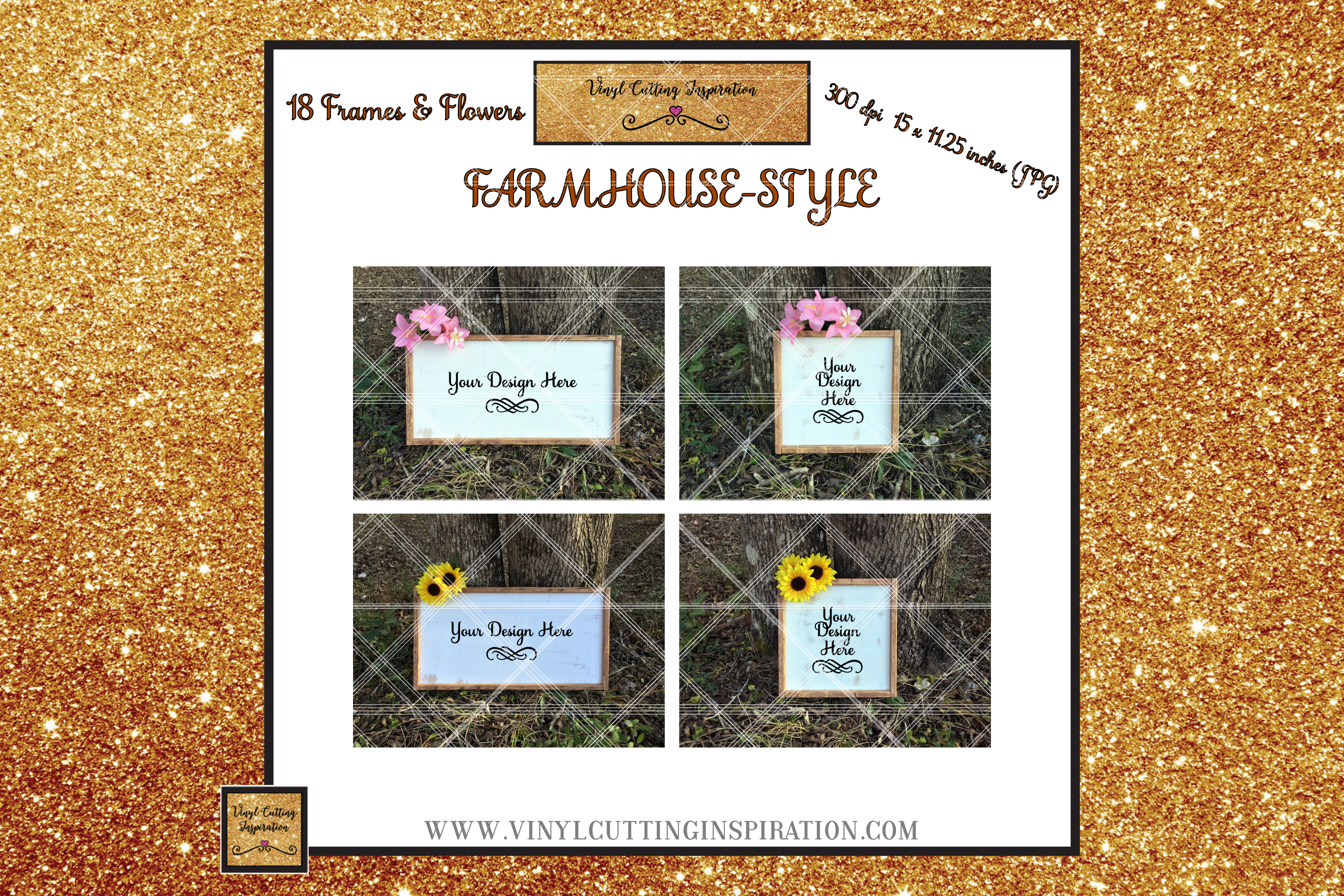 Wood Sign Mock ups Farmhouse Bundle Wood Frame Mockups JPG example image 4