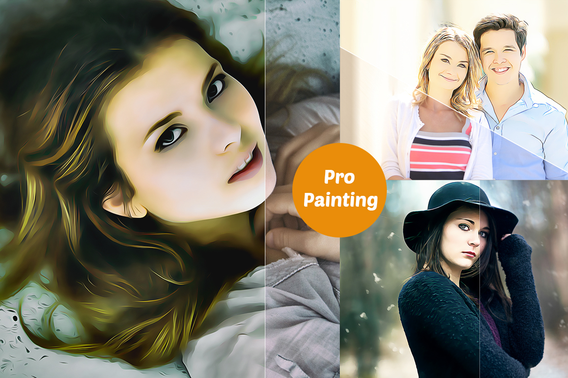 Professional cartoon Oil Paint effect v.2 example image 6